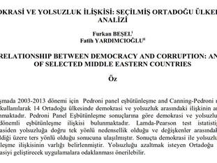 Demokrasi ve Yolsuzluk İlişkisi: Seçilmiş Ortadoğu Ülkelerinin Analizi