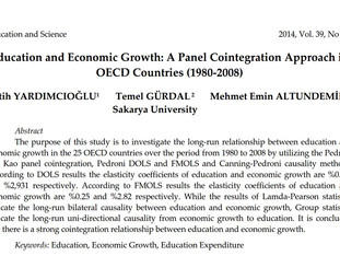 Education and Economic Growth: A Panel Cointegration Approach in OECD Countries (1980-2008)