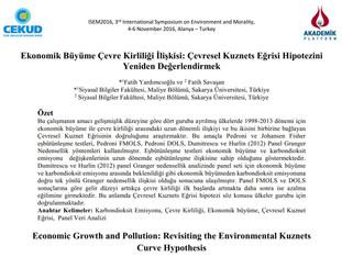 Ekonomik Büyüme Çevre Kirliliği İlişkisi: Çevresel Kuznets Eğrisi Hipotezini Yeniden Değerlendirmek
