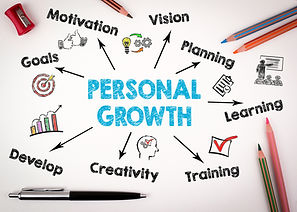 Personal Growth Concept. Chart with keyw