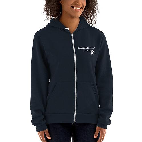 Emotional Support heavy zip-up hoodie