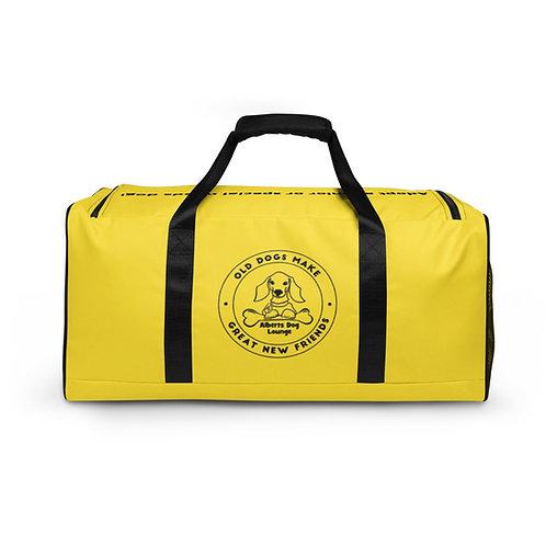 Albert's Dog Lounge Yellow Duffle Bag