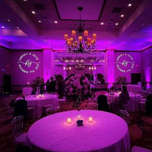 Beautiful uplighting wedding