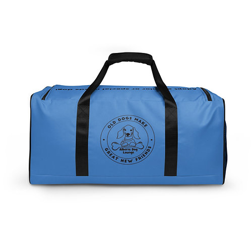 Albert's Dog Lounge Blue Duffle Bag
