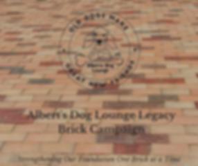 Albert's Dog Lounge Legacy Brick Campaig