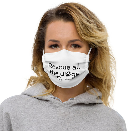 Rescue all the senior dogs face mask