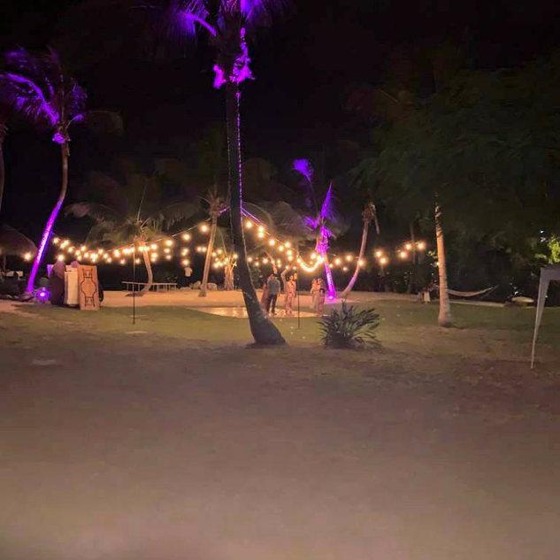 DJ in Key Largo, String Lights and Uplighting