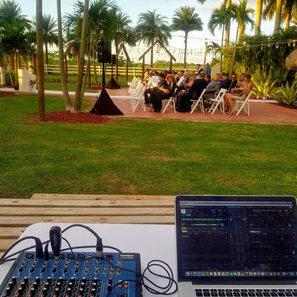 DJ setup Wedding Ceremony PartyMusic Miami