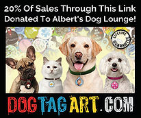 Albert's Dog Lounge Affiliate Link Banne