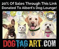 Albert's Dog Lounge Affiliate Link Banne