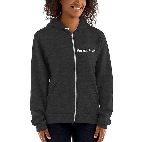 Foster Mom lightweight zip-up hoodie