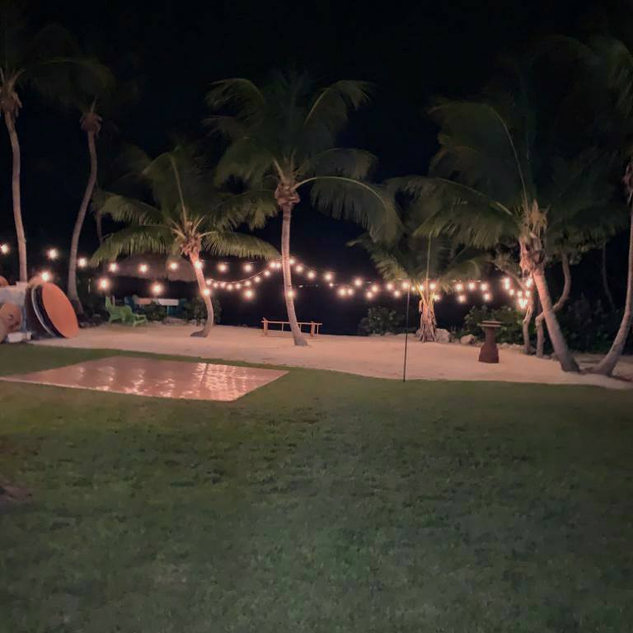 DJ in Key Largo, String Lights