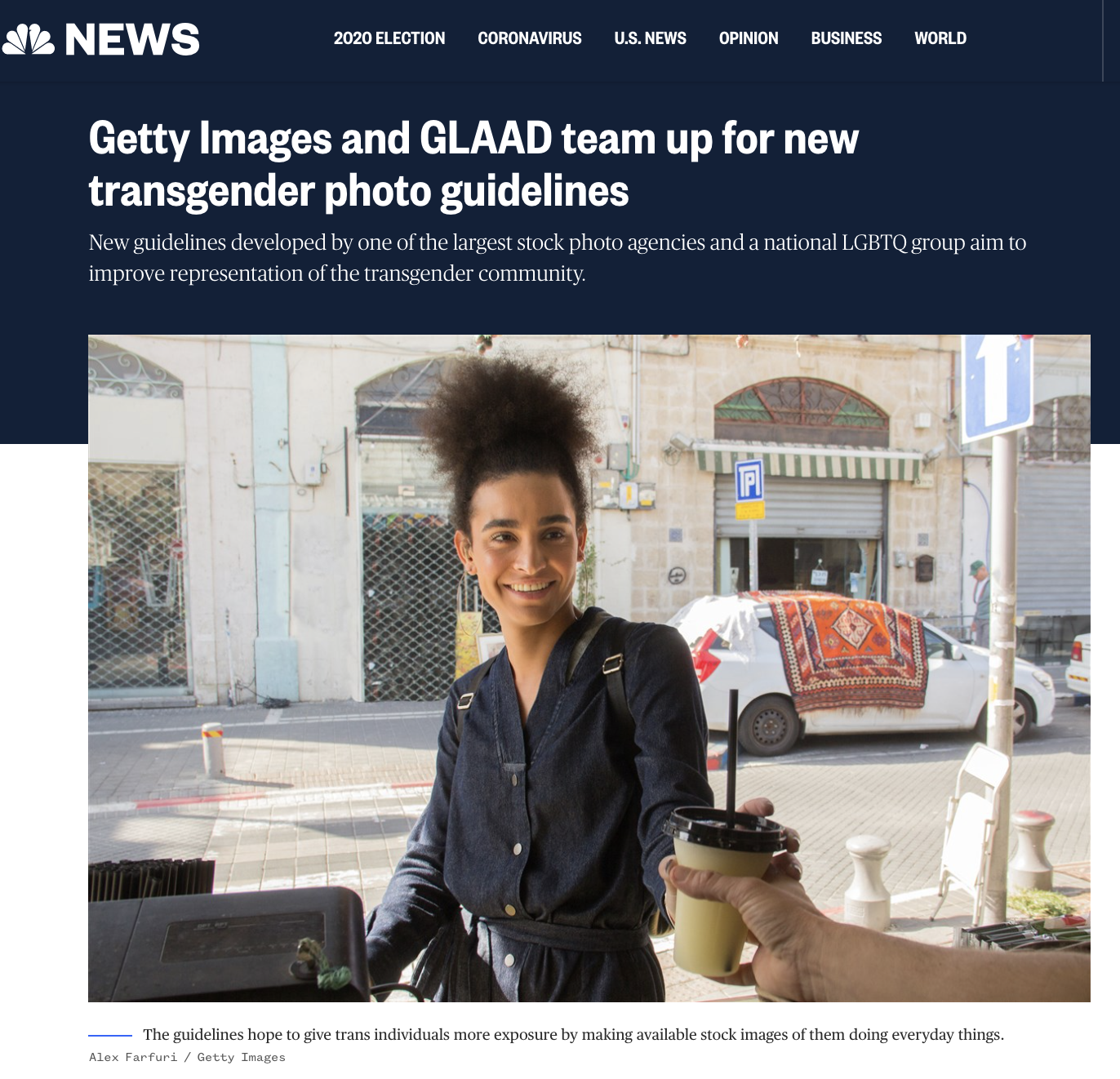 Getty Images launches global transgender contributor guidelines