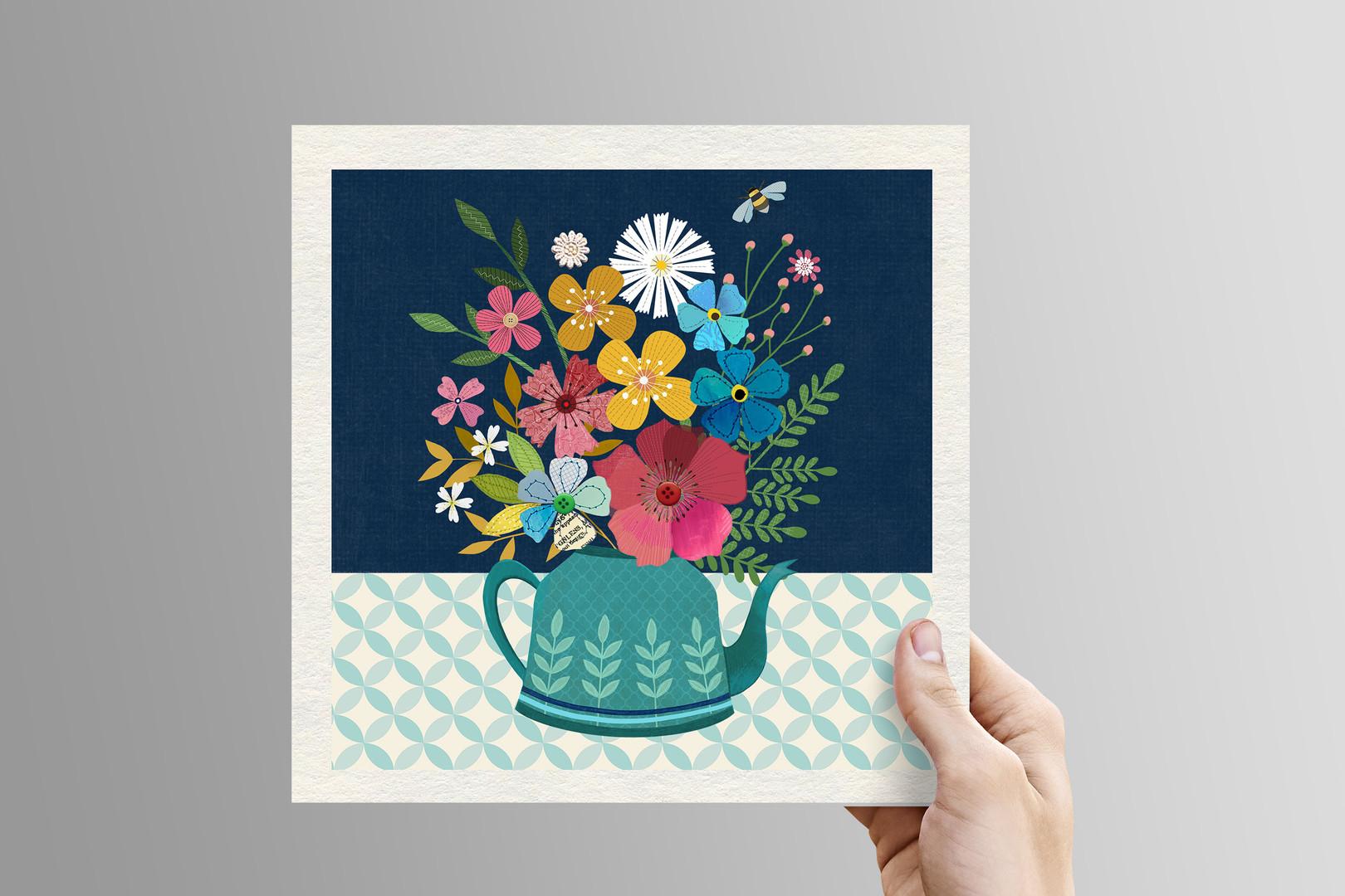 Kettle of Flowers