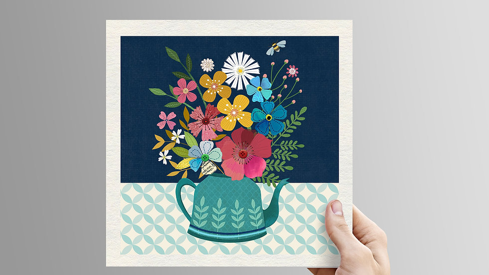 Flower Kettle - unframed print