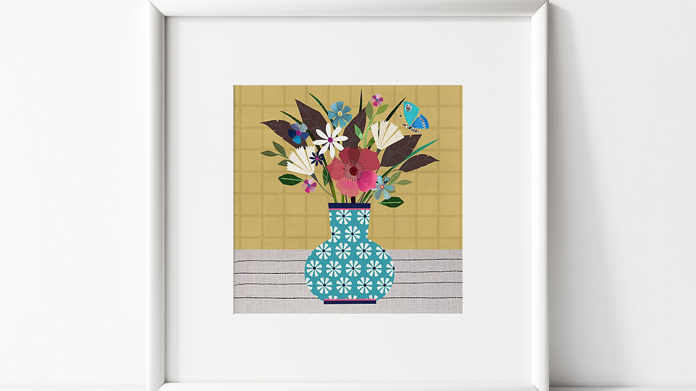 Blue Vase - unframed print