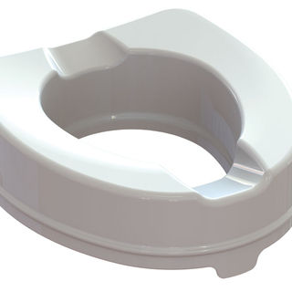Raised Toilet seat with fixing system