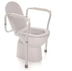 Toilet Safety Rail - Adjustable Height - Anodized Aluminium