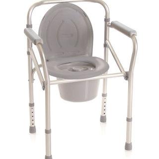 Anodized aluminium commode chair