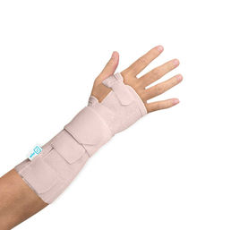 Long elastic stabilising wrist support with palmar splint