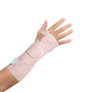 Long elastic stabilising wrist support with palmar splint
