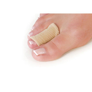 Toe protectors covered with elastic fabric