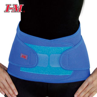 Blue Neoprene Back Support with twin pulls