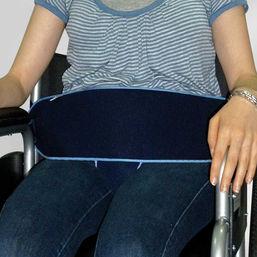 Wheelchair support belt