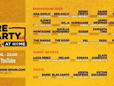TONIGHT! Spain's PrePartyES 2020 continues at home