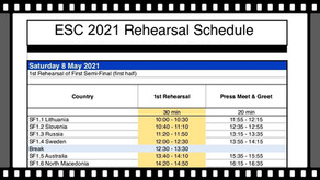 Eurovision 2021 Rehearsal's date and time information have been published