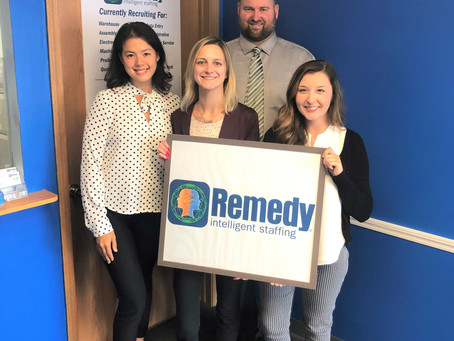 Remedy Staffing Receives Goodwill Business Partner of the Year Award