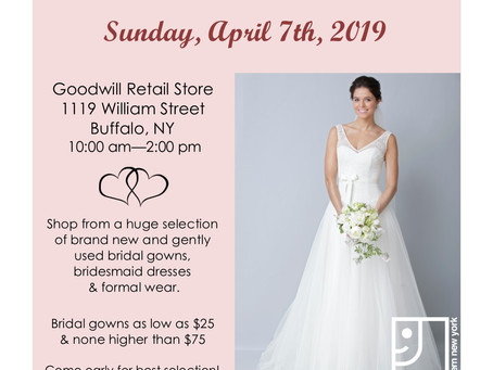 Goodwill to Hold Second Annual Bridal Sale