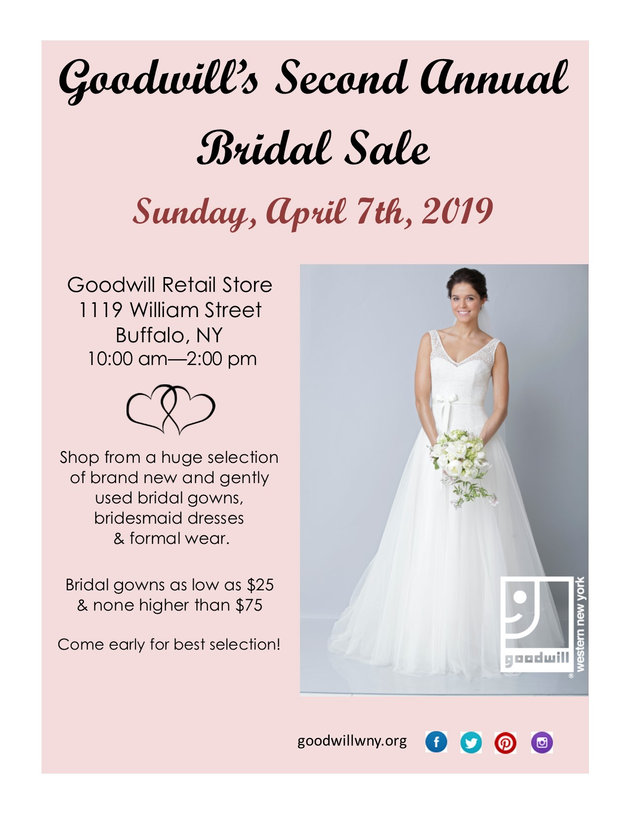 Goodwill February 2019 Sales Calendar Goodwill to Hold Second Annual Bridal Sale | Goodwill of Western