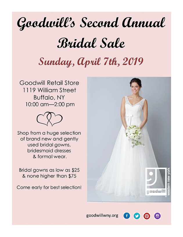 sports shoes 8efb2 7e98c Goodwill to Hold Second Annual Bridal Sale