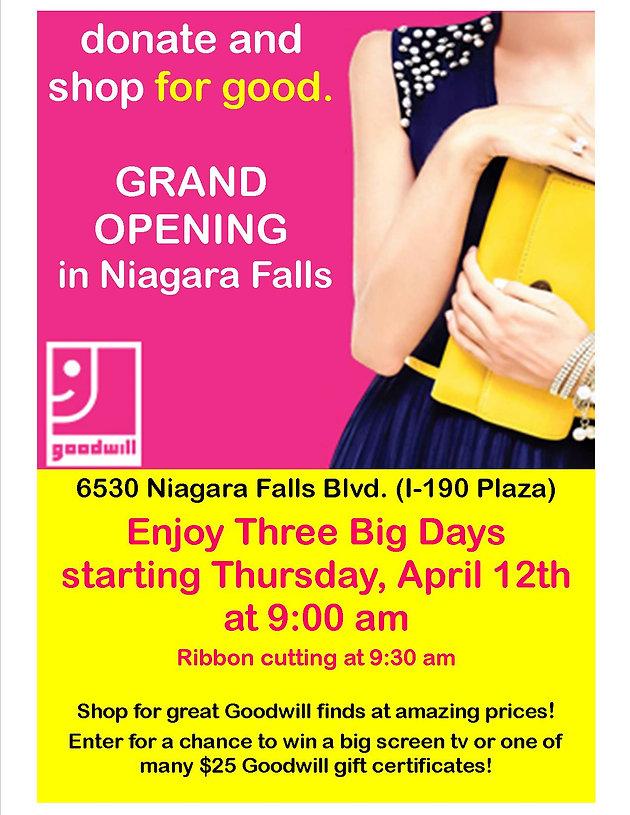 Goodwill to Open in Niagara Falls!