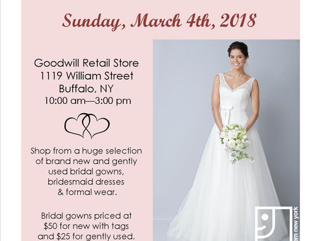 Goodwill to Hold First Annual Bridal Sale!