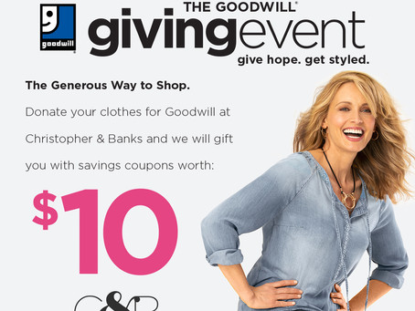 Goodwill Partners With Christopher & Banks for Nationwide Charitable Event