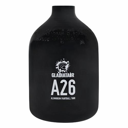 26ci Aluminium Paintball Cylinder with Gladiatair Regulator