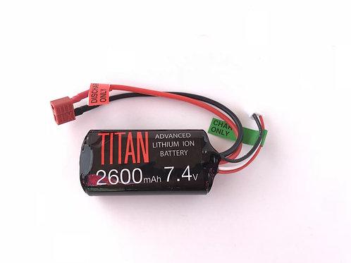 TITAN POWER 2600mAh 7.4v BRICK (DEANS)