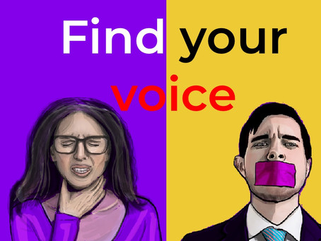 Stand-up to 'Find your voice' & your teaching style.