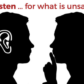Teacher wellbeing, we need to Listen & look out...for what is being unsaid.