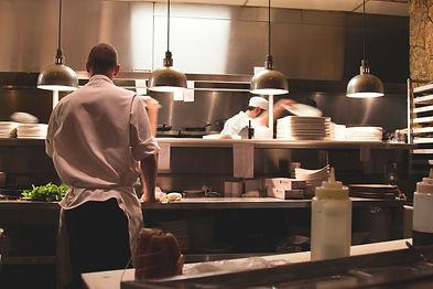 Chefs in a kitchen