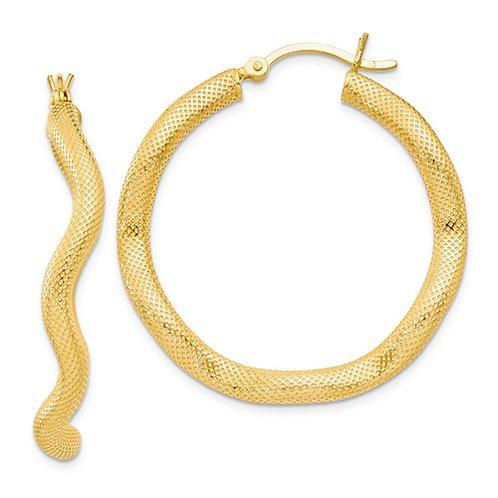 SS Vermeil Twist Hoop Earrings HJ0599