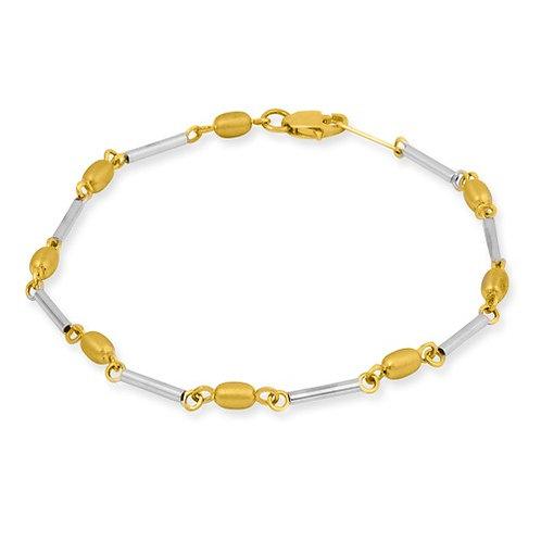 YG Bracelet Two Tone 14kt