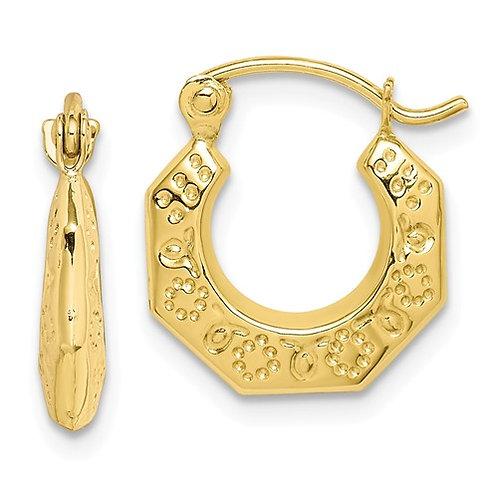 YG Earrings Hoop 10kt