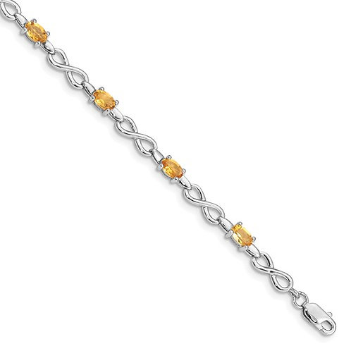 SS Bracelet Citrine