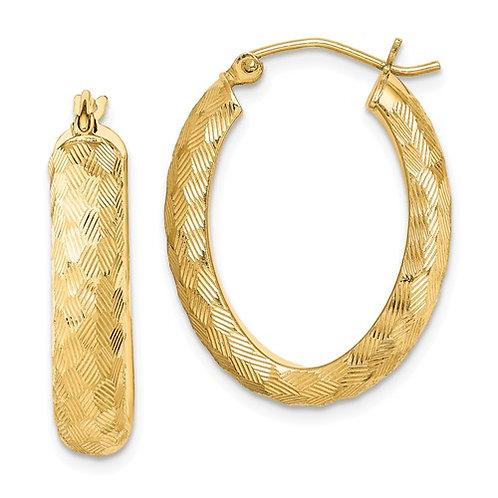 SS Earings Hoop Vermeil Gold Plated