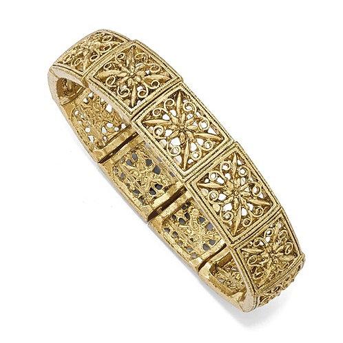 CJ Bracelet Gold Tone