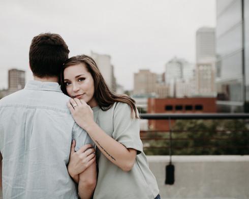 Omaha skyline wedding and engagement photographer