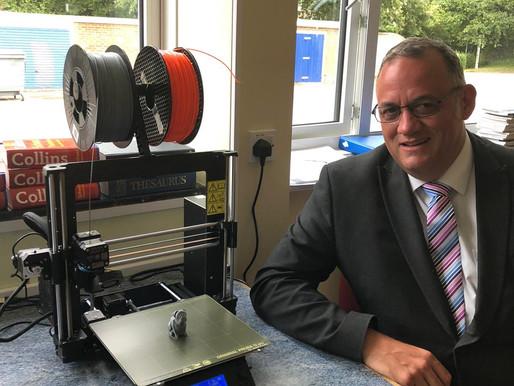 A new 3D printer for John O Gaunt School